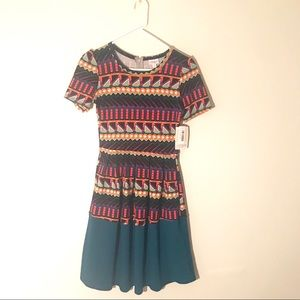 Lularoe DIPPED Amelia Dress